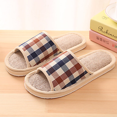 unisex slippers flip flops spring summer fall comfort linen casual flat heel others blue. Black Bedroom Furniture Sets. Home Design Ideas