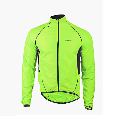 Nuckily Cycling Jacket Men's Long Sleeve Bike Jacket Windbreakers Raincoat/Poncho TopsMoisture Wicking Waterproof Quick Dry Windproof
