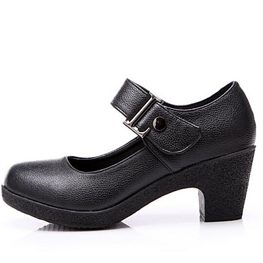 Chaussure A Talon Noir Fermé
