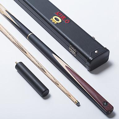 cue sticks accessoires snooker billard anglais trois quarts en deux parties cue noir bois de. Black Bedroom Furniture Sets. Home Design Ideas