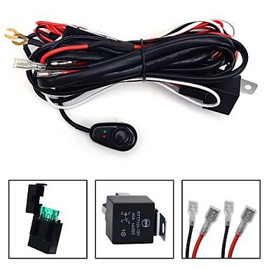 kawell universal 2 lead led light bar wiring harness kit. Black Bedroom Furniture Sets. Home Design Ideas