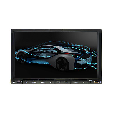"2 Din 7"" LCD Touch Screen In-Dash Car DVD Player With Bluetooth,RDS,iPod-Input,Stereo Radio,ATV"