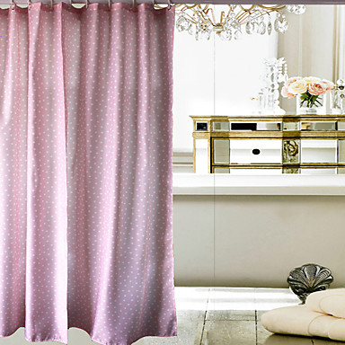 Neoclassical Poly Cotton Blend High Quality Waterproof Shower Curtains 72x72inch 180x180cm