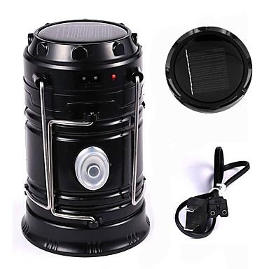 Portable Camping LED Lantern Flashlight Rechargeable Solar ...
