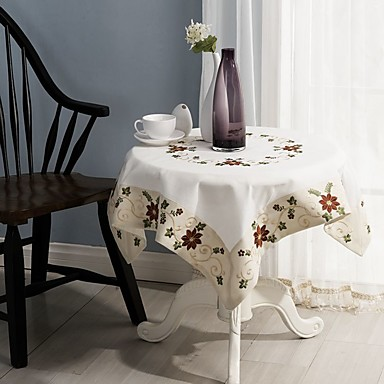 For sale square embroidered table cloth 100 cotton for 85 square tablecloth