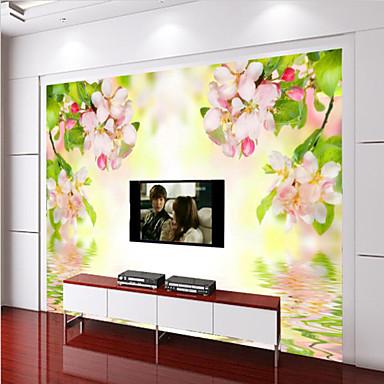 Bloemen 3d behang voor thuis modern behangen canvas materiaal lijm nodig muurschildering - Modern behang voor volwassen kamer ...