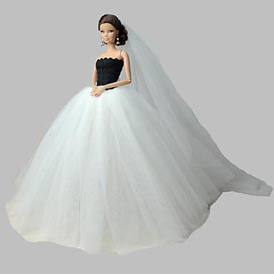 Wedding dresses for barbie doll dresses for girl 39 s doll for Barbie wedding dresses for sale