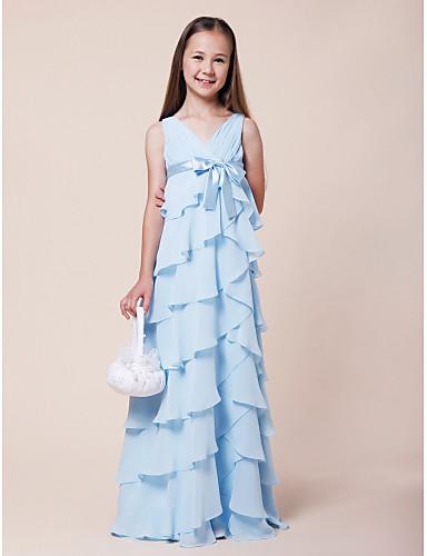 Robe fille bleu ciel