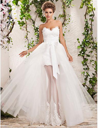 Свадебные платья укороченные спереди фото 3