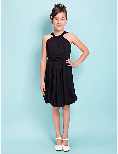 Knee Length Black Dresses For Juniors