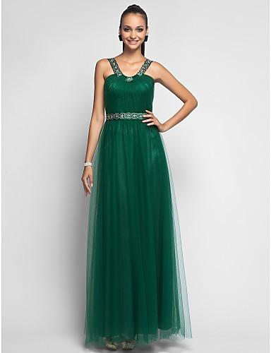 Vestido de tule verde