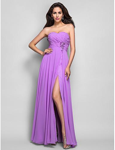 Vestidos longos lilás