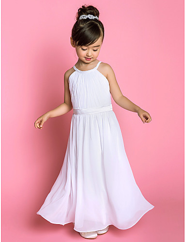 LAN TING BRIDE A-line Floor-length Flower Girl Dress - Chiffon ...