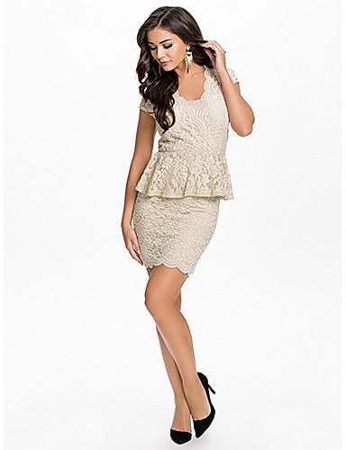 godress женская полный шнурок ключ дыра назад баски платье