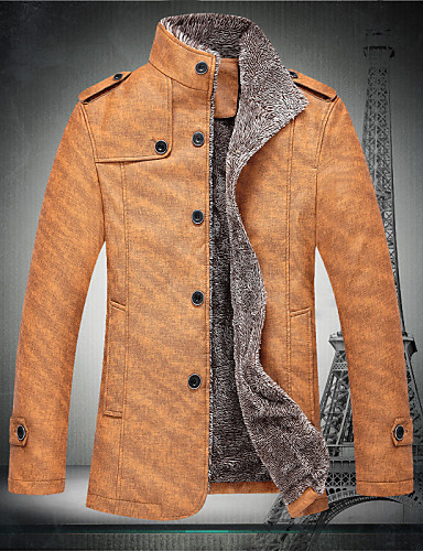 Buy C&K Men's New Korean Slim Coat Jacket