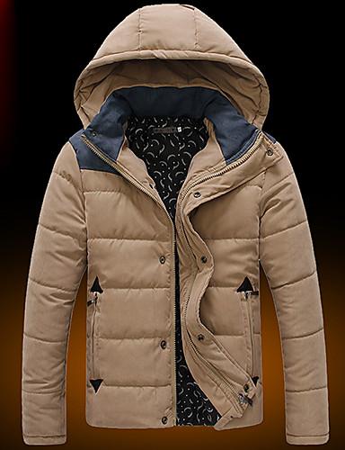 Buy D2P Men's Fashion Casual Warm Hood Coat