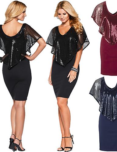 Buy Moda Women's Party Cape/V-Neck Sleeveless Dresses