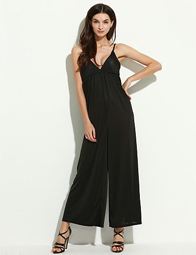 femme sexy taille haute soir e cocktail combinaison pantalon ample et de 3146556 2017. Black Bedroom Furniture Sets. Home Design Ideas