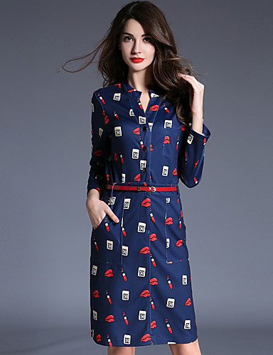 Women's Casual/Daily Sophisticated A Line Dress,Print ... - photo#26