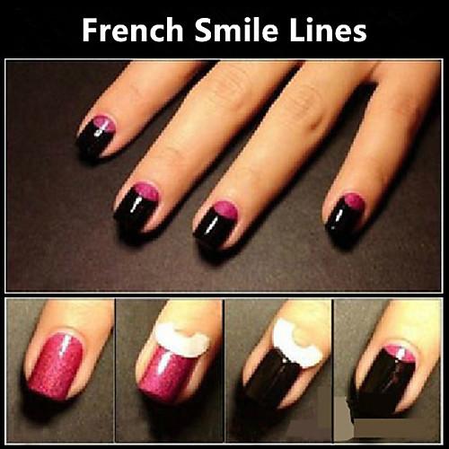 Как сделать улыбку внизу на ногтях