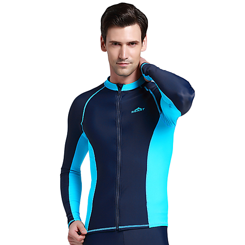 8c469ab9db1c0 SBART Men's Diving Rash Guard SPF50 UV Sun Protection Quick Dry Chinlon  Elastane Long Sleeve Swimwear Beach Wear Sun Shirt Top Classic Swimming  Diving ...