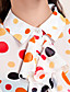 TS Colorful Polka Dot Ruffle Blouse Shirt