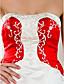 A-line/Princess Plus Sizes Wedding Dress - Ivory Court Train Strapless Satin