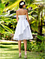 Lan Ting A-line/Princess Plus Sizes Wedding Dress - White Knee-length Sweetheart Satin/Tulle