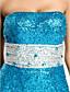 Fiesta de baile/Fiesta formal/Baile Militar Vestido - Azul Piscina Corte Sirena Hasta el Suelo - Strapless Con lentejuelas Tallas grandes
