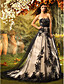Lanting Bride® A-line / Princess Petite Wedding Dress Court Train Strapless Lace / Tulle