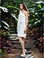 Lanting Bride® Pouzdrové Drobná / Nadměrné velikosti Svatební šaty - Klasické & nadčasové / Šaty na hostinu Krátký / Mini Jedno rameno