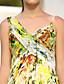 Robe - Imprimé Soirée formelle A-line Avec bretelles Longueur ras du sol Mousseline polyester Grandes tailles