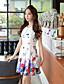 Γυναικεία Φόρεμα Στρογγυλή Λαιμόκοψη Πάνω από το Γόνατο Αμάνικο Spandex/Πολυεστέρας