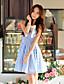 Γυναικεία Φόρεμα Φιόγκος Φιόγκος Πάνω από το Γόνατο Αμάνικο Spandex/Πολυεστέρας