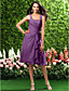 Homecoming Bridesmaid Dress Knee Length Chiffon A Line Straps Dress
