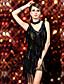Latinotanssi Hameet Naisten Suoritus Puuvilla Nailon Elastaani Polyesteri 2 osainen Hihaton Leninki Neckwear