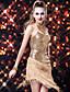 Női - Latin tánc / Samba - Ruhák ( Fekete / Arany / Piros / Ezüst , Spandex / Poliészter / Flitteres , Flitterek / Bojt(ok) )