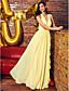 ts couture® formalno večernja haljina omotač / stupac v-izrez žoržet gležnja duljina s drapiranje