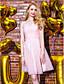 TS Couture Soirée Cocktail Promo Robe - Jolis Dos Trapèze Epaules Dénudées Mi-long Mousseline de soie Dentelle Tulle avec Dentelle Croisé