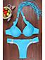 Ženski Bikini-Grudnjak na vezanje-Grudnjak sa žicom / Nepodstavljen grudnjak-Jednobojni-Poliester