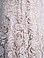Lanting Bride® 시스 / 칼럼 신부 어머니 드레스 스윕 / 브러쉬 트레인 3/4 길이 소매 레이스 / 샤르뫼즈 - 레이스 / 루시 주름 장식