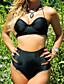Egyszínű Megkötős Női Bikini,Push-up Poliészter