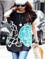 Dámské letní šaty Korejský Flower Tištěné Loose T-shirt