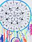 Nais- Lyhythihainen Keskipaksu Pyöreä kaula-aukko Polyesteri Kesä Yksinkertainen / Katutyyli Rento/arki T-paita,Painettu Valkoinen