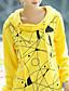 Damen Pullover Übergröße Lässig/Alltäglich Einfach Street Schick Druck Rundhalsausschnitt Mikro-elastisch Baumwolle Langarm Herbst