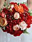 Bryllupsblomster Rund Roser Buketter Bryllup Fest & Aften Polyester Sateng Taft Spandex Tørrede Blomster Rhinstein 9.84 tommer (ca. 25cm)