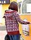 Normal Pullover Fritid/hverdag / Plusstørrelser Enkel Dame,Dyremønster Rød Med hette Langermet Bomull Høst / Vinter Medium Mikroelastisk