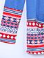 Bomull Blå Medium Langermet,Rund hals T-skjorte Trykt mønster Vår / Høst Gatemote Fritid/hverdag Kvinner