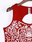 Uden ærmer U-hals Medium Kvinders Rød Trykt mønster Sommer Street Casual/hverdag Tank Tops,Polyester