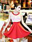 Damen Bodycon Kleid-Ausgehen Lässig/Alltäglich Sexy Solide Rundhalsausschnitt Mini Ärmellos Baumwolle Sommer Tiefe Hüfthöhe